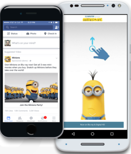 Facebook's new canvas ad feature allows brands to offer users a completely immersive mobile experience.